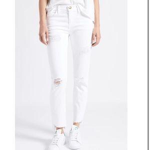 NWT Current/Elliot white stiletto skinny jeans